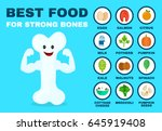 best food for strong bones.... | Shutterstock .eps vector #645919408