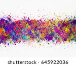 abstract artistic watercolor...   Shutterstock . vector #645922036