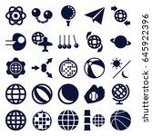 sphere icons set. set of 25... | Shutterstock .eps vector #645922396