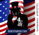 happy independence day graphic... | Shutterstock .eps vector #645922792