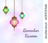vector design for ramadan... | Shutterstock .eps vector #645925468