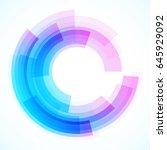 geometric frame from circles ... | Shutterstock .eps vector #645929092
