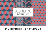 abstract geometric hipster...   Shutterstock .eps vector #645929185