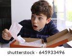 teenager boy shocked expression ... | Shutterstock . vector #645933496