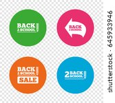 back to school sale icons.... | Shutterstock .eps vector #645933946