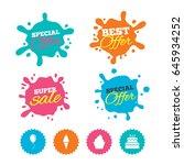 best offer and sale splash... | Shutterstock .eps vector #645934252