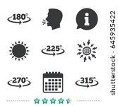 angle 180 315 degrees icons.... | Shutterstock .eps vector #645935422