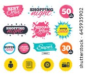 sale shopping banners. special... | Shutterstock .eps vector #645935902