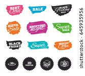 ink brush sale banners and... | Shutterstock .eps vector #645935956