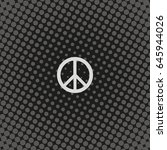 peace symbol. | Shutterstock .eps vector #645944026