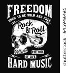 rock music graphic design with...   Shutterstock .eps vector #645946465
