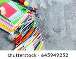 colorful assortment of school