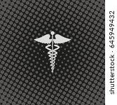 caduceus medical symbol. | Shutterstock .eps vector #645949432
