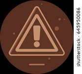 attention sign icon with long... | Shutterstock . vector #645950086