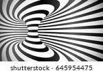 vector curved stripes optical... | Shutterstock .eps vector #645954475