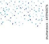 many falling blue tiny confetti ... | Shutterstock .eps vector #645960076