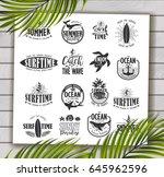 summer typography design... | Shutterstock .eps vector #645962596