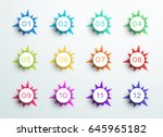 number bullet point abstract...   Shutterstock .eps vector #645965182