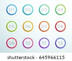 number bullet point cut out... | Shutterstock .eps vector #645966115