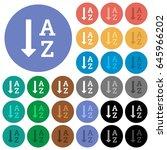 alphabetically ascending...   Shutterstock .eps vector #645966202
