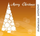 merry christmas   orange... | Shutterstock .eps vector #64596949