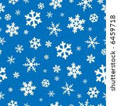 seamless snowflakes background | Shutterstock .eps vector #6459718