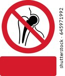 no access for people with... | Shutterstock .eps vector #645971992