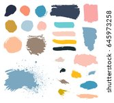 vector grunge watercolor ink... | Shutterstock .eps vector #645973258