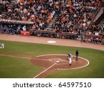 Small photo of SAN FRANCISCO, CA - OCTOBER 28: Cody Ross takes practice swing before stepping into the box game 2 2010 World Series game between Giants and Rangers Oct. 28, 2010 AT&T Park San Francisco, CA.