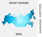 russia map in geometric... | Shutterstock .eps vector #645975202