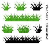 grass vector | Shutterstock .eps vector #645976966