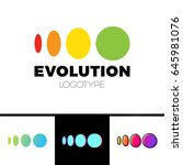 four symbol from elipse to... | Shutterstock .eps vector #645981076