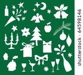 christmas design elements | Shutterstock .eps vector #64598146