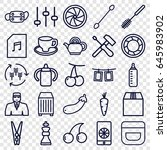 closeup icons set. set of 25... | Shutterstock .eps vector #645983902