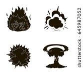 flame  sparks  hydrogen... | Shutterstock .eps vector #645987052