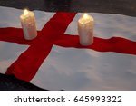 3d rendering of burning candles ... | Shutterstock . vector #645993322
