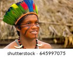 native brazilian man from tupi... | Shutterstock . vector #645997075