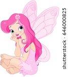 illustration of sitting pink... | Shutterstock .eps vector #646000825