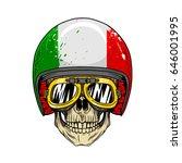 Biker Skull Style Cool Wearing...