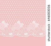 seamless lace horizontal fabric.... | Shutterstock . vector #646003036