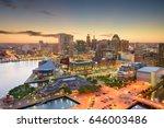 baltimore  maryland  usa inner... | Shutterstock . vector #646003486