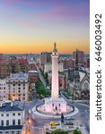 baltimore  maryland  usa... | Shutterstock . vector #646003492