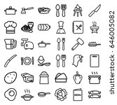 cooking icons set. set of 36... | Shutterstock .eps vector #646005082