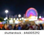 carnival amusement part with...   Shutterstock . vector #646005292
