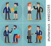 four illustrations of cartoon... | Shutterstock .eps vector #646012255