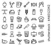 restaurant icons set. set of 36 ... | Shutterstock .eps vector #646012342