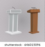 white podium tribune rostrum... | Shutterstock .eps vector #646015096