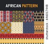 african pattern texture vector... | Shutterstock .eps vector #646017448