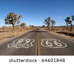 Route 66 With Joshua Trees Dee...