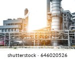 close up industrial view at oil ... | Shutterstock . vector #646020526